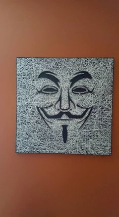 String Art Guy Fawkes by PawtiqueCollars on Etsy