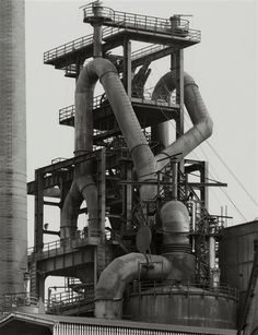 Bernd & Hilla Becher, Head of blast fumace, 1982