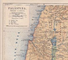 1888 Palestine and the Holy Land with the Dead Sea by Maptimistic, $15.90