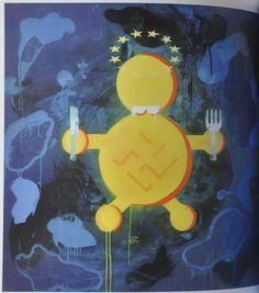 """Nazi Eurochild"". Image taken from the Robert Del Naja art book ""Fitting In""."