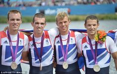 The silver medal is Britain's third in the rowing at this Olympics and the country's tenth overall - men's lightweight fours
