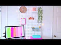 Diy pegboard wall ~ Alisha Marie Diy tumblr room decor
