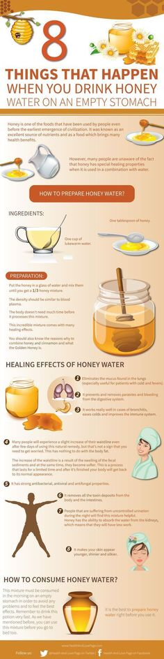 Tips to prepare honey water and how to consume it. Drinking honey water every morning on an empty stomach offers tons of health benefits. Here are amazing things will happen when you do it. detox drinks for stomach Health And Nutrition, Health And Wellness, Health And Beauty, Health Fitness, Men Health, Men's Fitness, Nutrition Program, Nutrition Education, Muscle Fitness