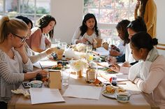a daily something: A Daily Gathering   Calligraphy Workshop
