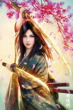Mirumoto Kei, Dragon Clan Champion - by Mario Wibisono
