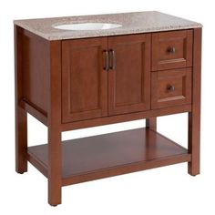 Home Decorators Collection Catalina 37 in. W Vanity in Amber with Stone Effects Vanity Top in Sienna with White Sink - The Home Depot Marble Vanity Tops, Bathroom Vanity Tops, Bath Vanities, Bathroom Ideas, Design Bathroom, Bathroom Inspiration, Master Bathroom, 36 Vanity, Wall Hung Vanity