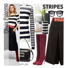 """Olivia Palermo-Stripes"" by goreti ❤ liked on Polyvore featuring Joseph, Roger Vivier, Jimmy Choo, Yves Saint Laurent, Hermès, Chelsea28, Grey Ant and BoldStripes"