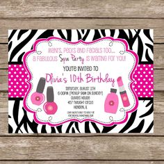 Printable Birthday Invitations for Girls | Free Printable Birthday Invitations Girls Sleepover