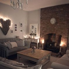 Cosy Grey Living Room, Country Cottage Living Room, Living Room Decor Cozy, Living Room Grey, Living Room Interior, Home Living Room, Cottage Lounge, Front Room Ideas Cosy, Cosy Lounge Ideas