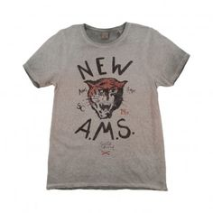 | Tiger New A.M.S T-shirt  Grey  Scotch & Soda |
