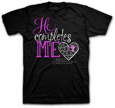 He Completes Me - Women's Christian T-Shirt - Kerusso