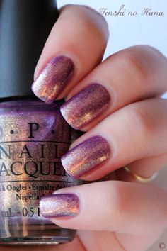 OPI - It's my Year- a pretty plum & gold