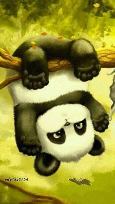 Panda art Halloween Makeup halloween and makeup Niedlicher Panda, Panda Love, Kung Fu Panda, Panda Wallpapers, Cute Wallpapers, Cute Animal Drawings, Cute Drawings, Cute Baby Animals, Animals And Pets