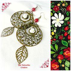 """Boucles d'oreilles '' Le printemps des Balkans"""" : Boucles d'oreille par little-babouchka-creations"""