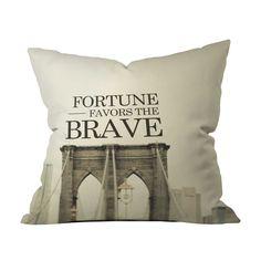 Bridge Bravery Throw Pillow