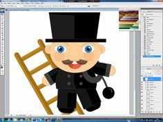 Illustrating drawing painting - how to draw a chimney-sweep