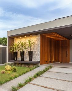 House Front Design, Modern House Design, Door Design, Exterior Design, Contemporary Design, Modern House Facades, Modern Architecture House, Facade Architecture, Chinese Architecture