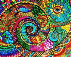 drawings of love Psychedelic Art, Arte Hippy, Spirals In Nature, Spiral Art, Psy Art, Hippie Art, Visionary Art, Fractal Art, Doodle Art