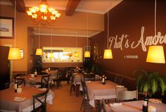 The interior at That's Amore. Photo courtesy of the restaurant.