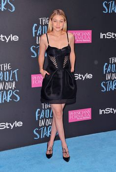Gigi Hadid in Gabriela Cadena at the New York The Fault in Our Stars premiere.