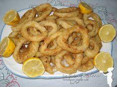Las Recetas de Malena: Calamares fritos muy tiernos con rebozado crujient...