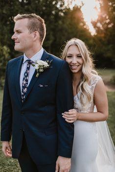 Real Bride Jess wears Wynn WSP 616 by Daalarna from Sash & Bustle - Soft Wedding Dresses, Crepe Wedding Dress, V Neck Wedding Dress, Curvy Bride, Full Skirt Dress, Bride Look, Dress Silhouette, Plus Size Wedding, Custom Dresses