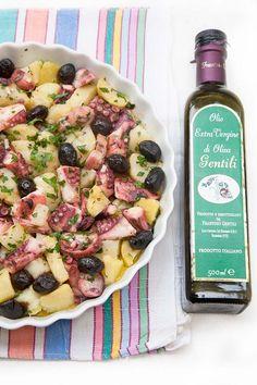 Insalata di polpo e patate con olio Gentili