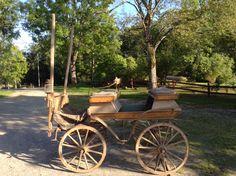 En fin gammal vagn för häst som nu städats fram.