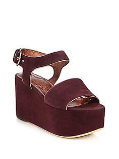 Salvatore Ferragamo Lucrezia Suede Platform Sandals
