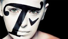 "A whole new meaning to ""typeface"". Font Face Fashion: Typography in Makeup"
