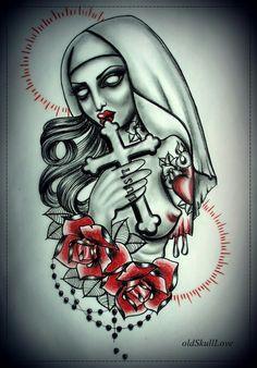 Old skull love design!
