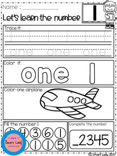 FREE Number Worksheets.  We created this NUMBER WORKSHEETS product for students, so we can learn the numbers.