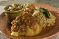 The Avocado Adobe: half an avocado stuffed with cheese and chicken or beef then battered and fried!