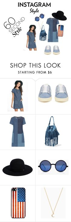 """""""Instagram Style"""" by chauert on Polyvore featuring Boohoo, Yves Saint Laurent, J Brand, Sandro, Siggi, 60secondstle and PVShareYourStyle"""