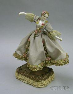 Dancing Half Doll, Pin Cushion Doll.  Arms Away.  Beautiful Dress.