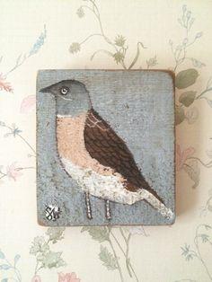 Original painting on reclaimed wood  of a Subalpine warbler bird £35.00