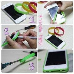 Make your own phone case from a silicone wristband