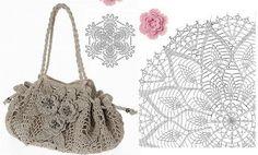imagens de bolsas de crochê com gráfico e receita