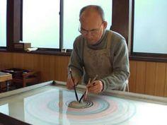 suminagashi marbling by Mr. Fukuda