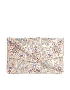 6cb39db5e4 New Look Pastel Embellished Envelope Clutch Bag at asos.com