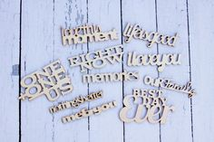 *NEW* CHA SUMMER Wood Phrases from Fancy Pants Designs
