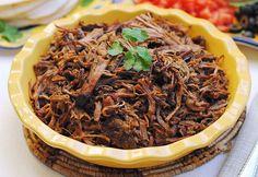 Beef Brisket for Tacos, Enchiladas, and Tostadas {Slow Cooker}