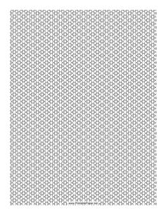 This 3 Seed Bead Net Pattern beadwork layout graph paper features seed beads in a three-bead net pattern. Free to download and print