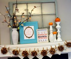 Thanksgiving mantle decoration!