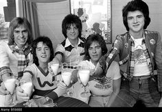 Bay City Rollers Toast Their Success With Milk. L. To R. Derek Stock Photo, Picture And Royalty Free Image. Pic. 20487796