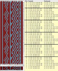 26 tarjetas, 2 colores, repite cada 8 movimientos // sed_164a diseñado en GTT༺❁