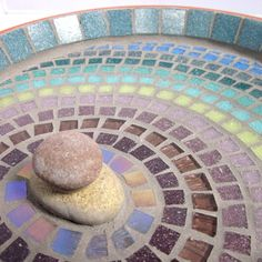 Heather Ripple Mosaic Garden Bird Bath Ornament. £34.00, via Etsy.