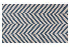 Laima Flat-Weave Rug, Teal $409