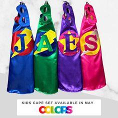 Personalized Kids Cape Set /Unisex Clothes /Superhero Birthday | Etsy Superhero Symbols, Superhero Capes, Capes For Kids, Mask For Kids, You Are My Superhero, Girls Cape, Unisex Clothes, Personalized Gifts For Kids, Birthday Party Outfits
