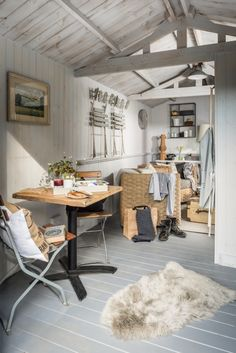 """This romantic stone cottage called """"The Poet's Hideaway"""" is a luxury moorland retreat in St Breward, a village in Cornwall, United Kingdom. Stone Cottage, Summer House Interiors, Interior, Cabin Interiors, Open Plan Living Room, Home Decor, House Interior, Cottage Interiors, Painted Floorboards"""